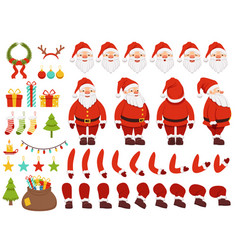mascot creation kit of christmas character santa vector image