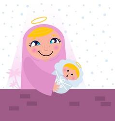 nativity bethlehem scene vector image vector image
