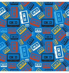 Old audio cassette pattern vector