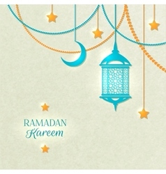 Ramadan Light Color Poster vector image