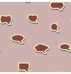 Seamless background with bubbles for comics vector image