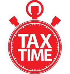 Tax time stopwatch red icon vector