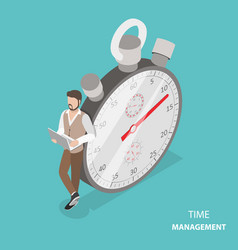 time management flat isometric concept vector image