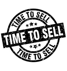 Time to sell round grunge black stamp vector