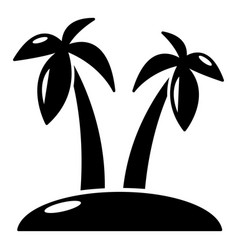 tropical island icon simple style vector image vector image