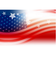 usa flag background design vector image