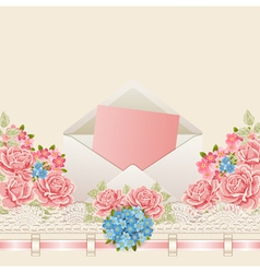 Vintage background with flowers vector image vector image