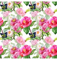 Vintage Floral Seamless on white Background with vector image