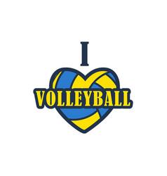 Volleyball badge vector