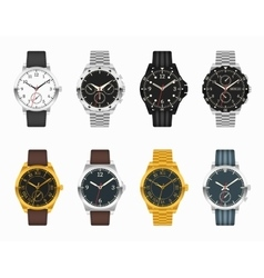 watch set Expensive classic watches vector image vector image