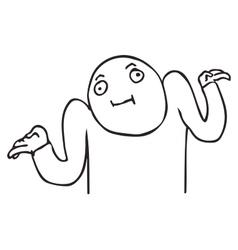 WHATEVER guy meme face for any design vector image