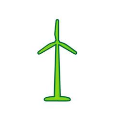 wind turbine logo or sign lemon scribble vector image