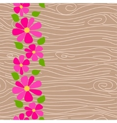 Wood texture seamless pattern vector image
