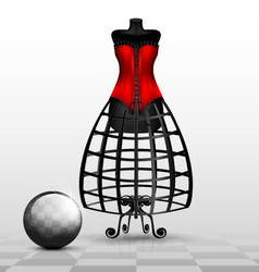 Dummy and red corset vector
