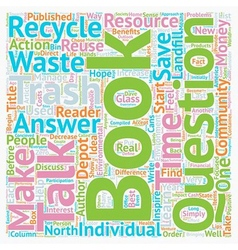 The environmental book on everyone s lips text vector