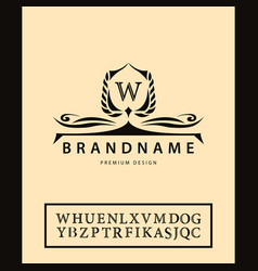 Luxury vintage logo business sign label letter vector