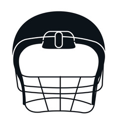American football helmet icon vector