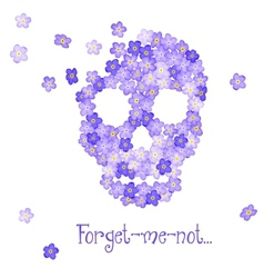 Floral Human skull vector image