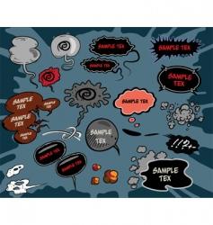 comic book balloons vector image