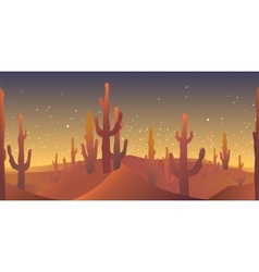 desert rusk seamless pattern vector image