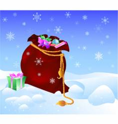 sack with gifts vector image