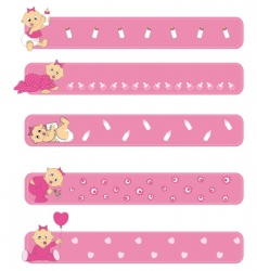 Baby girl banners vector