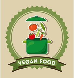 Vegan food vector