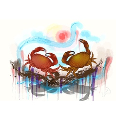 Dancing crabs vector