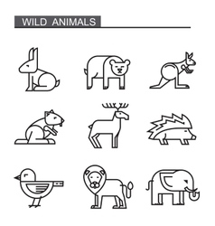 black flat animal vector image