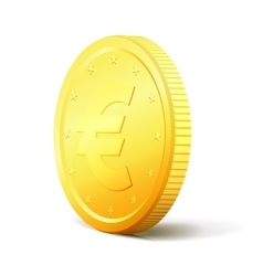 Shiny golden coin vector