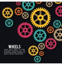 Industrial wheel design with colors background vector