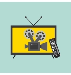 Watch tv movie design vector