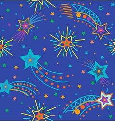festive sky background vector image