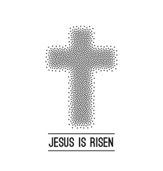 Easter background he is risen halftone dots on vector