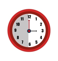 Time and clock isolated graphic design vector