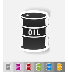 Realistic design element barrel of oil vector