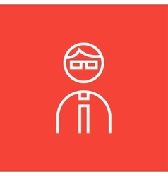 Businessman line icon vector image