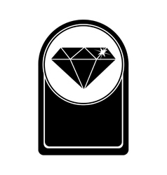 card with diamond icon vector image