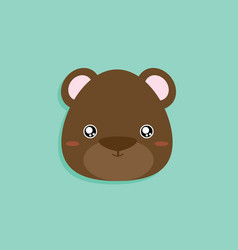 Cartoon bear face vector