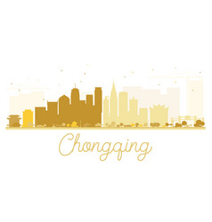 Chongqing city skyline golden silhouette vector