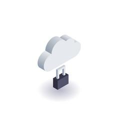 computer cloud icon  symbol vector image vector image