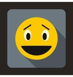 Confused emoticon icon flat style vector