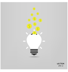 creative light bulb vector image vector image