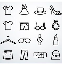 Fashion icons set vector