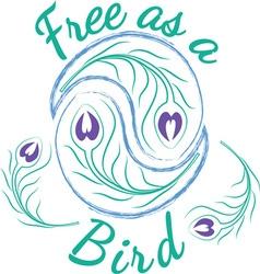 Free As A Bird vector image