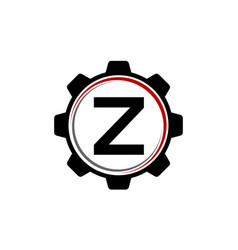 Gear solution logo letter z vector