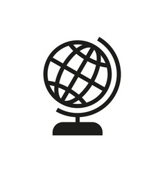 Globe icon on white background vector