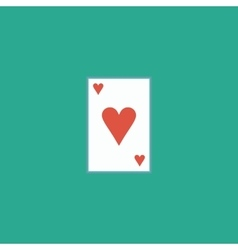 Hearts card icon vector image
