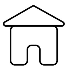 home house stream line icon vector image vector image