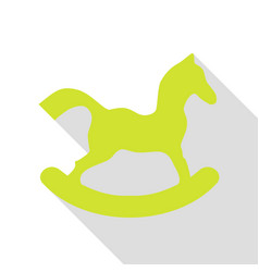 Horse toy sign pear icon with flat style shadow vector